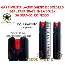 Gas Pimienta Lacrimogeno Defensa Personal Spray 30 G P Bolso