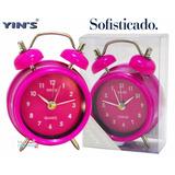 Mini Relógio De Mesa Despertador Tipo Retrô Vintage Antigo
