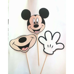 Props Fotos Cartelitos Cumple Kit Mickey Mouse