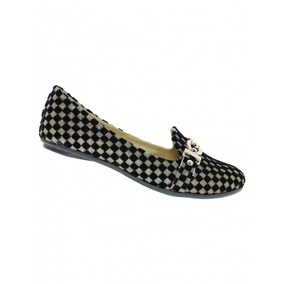 Zapato Casual Para Mujer Comodo Nobuck Negro Oro Marca Bonit
