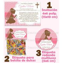 Kit Imprimible Primera Comunion Niña Y Niño Invitacion