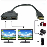 Splitter Cable Hdmi 1 Macho 2 Hembras Full Hd 3d