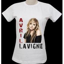 Blusas Avril Lavigne ( Vários Modelos ) - Babylook Feminina