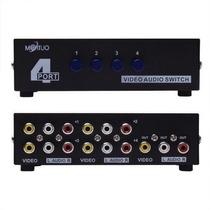 Seletor Rca Audio E Video Composto 4x1 Switch Comutador Av
