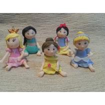 10 Souvenirs Princesas Niñas En Porcelana Fría