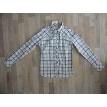 Camisa Escocesa Celeste Y Blanca Kevingston