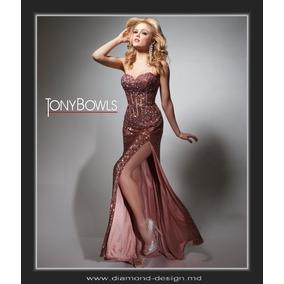 Vestido Fiesta Noche Alta Costura Tony B Talla 4 $630 Dlls