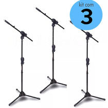 Pedestal Ibox P/ Microfone Ibox Max Girafa+cachimbo Kit 3pç