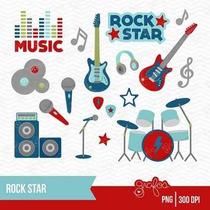 Kit Imprimible Rock Stars 3 Imagenes Clipart