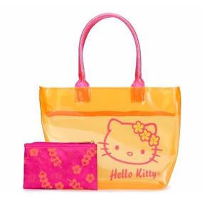 Bolso Naranja Transparente Hello Kitty Licencia Sanrio 81636
