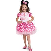 Disfraz Disguise Minnie Mouse Clásico Rosa P/niña/bebé 7-8