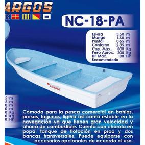 Lancha Fibra De Vidrio 18 Pies Nc-18-pa   Argos