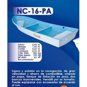 Lancha Fibra De Vidrio 16 Pies Nc-16-pa   Argos