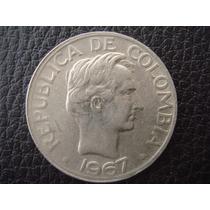 Colombia - Moneda De 50 Centavos, Año 1967 - Muy Bueno