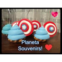 Cupcake Porta Foto! Souvenirs! Capitan America Avengers
