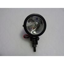 Mini Farol Auxiliar Olho De Boi Preto Com Lâmpada H3 55w
