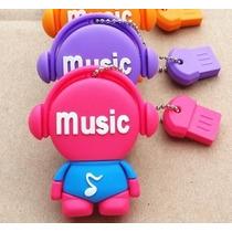 Pen Drive Personalizado Music 8gb Usb 2.0 Frete Grátis