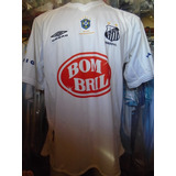 Camiseta Fútbol Santos Brasil Umbro 2002 2003 #7 Robinho Xl