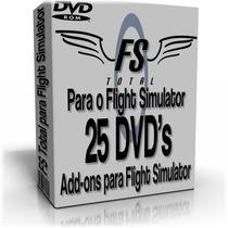 Fs Total Para O Flight Simulator -25 Dvds P/ Fsx Ou Fs2004