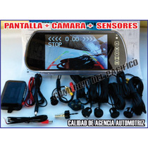 Espejo Retrovisor Pantalla Touch Camara Y Sensores Reversa