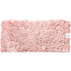 Tapete De Pelo Alto Rosa Salmão Para Decorar 80cmx50cm