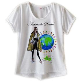 T Shirt Feminina Camiseta Assistente Social Blusa Cursos