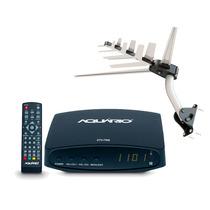 Kit Conversor Digital Aquário Dtv 7000 + Antena Dtv 2000 Hd