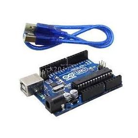 Arduino Uno R3 Atmega328p Atmega16u2 + Cable Usb