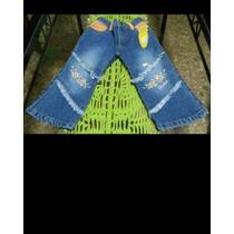 Jean Nena T1 *mindlee*c/bordado,cintura Elastizada Nuevo.!!!