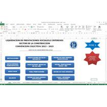 Prestaciones Sociales Sector De La Construccion ,en Excel