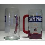 Campari Vaso Artesania Botella Reciclada.
