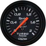 Medidor Pressão Turbo 2kg Manômetro Turbina Willtec 52mm Pre
