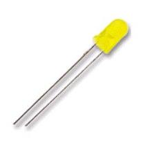 Led Difuso 3mm Amarelo - Pacote Com 10 Peças - Apenas R$1,50