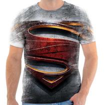 Camisa Camiseta Justice League Man Of Steel Superman