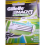 Cartucho Con 3 Navajas De Repues Gillette Sensitive