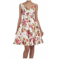 Vestidos Coctel Estampados Rosas
