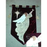 6pkbanderas Estandartes Angel Reyes Magos Noel Santa Navidad