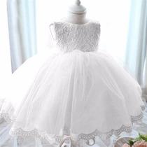 Vestidos Para Bebé Niña - Conjuntos Bebitas Bautizo Blanco