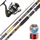 Equipo Pesca Waterdog Caña Colville 2.40 + Reel Lybra 4001