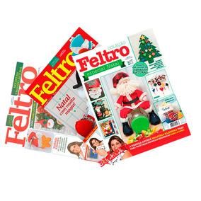 Kit 3 Revistas Artesanato Feltro Natal Com Moldes Decoração