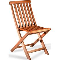 Cadeira Dobrável Ana Maria Jardim Madeira Maciça Proteção Uv