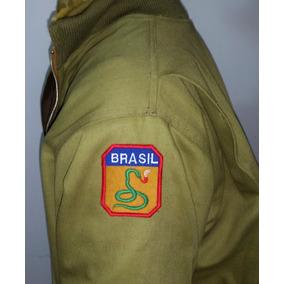 Jaqueta Feb Pracinhas Com Patches Cobra Fumando 5.o Exército
