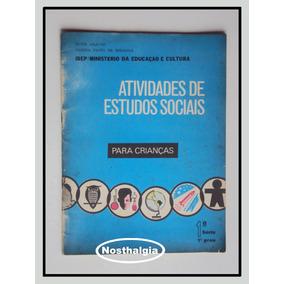Atividades De Estudo Sociais -1 Série - 1978 - F(150)