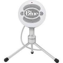 Microfone Condensador Usb Blue Snowball Ice Branco