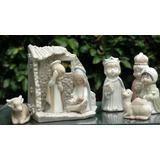 Pesebre De Niños De Calidad Porcelana Horneada 11 Piezas