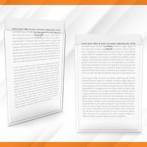 Display Acrílico Parede Porta Folha A4 - Com Fita Dupla-face