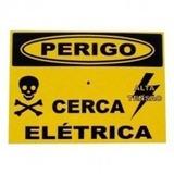 Placa Advertência: Perigo Cerca Elétrica Pvc