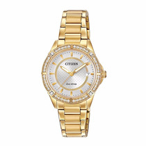 Reloj Citizen Fe606256a Eco-drive Gold Time Square