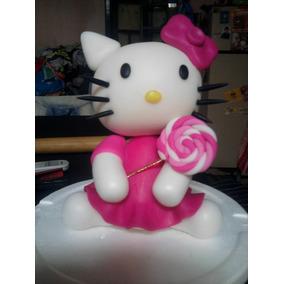 Kitty En Porcelana Fria - Adorno De Torta