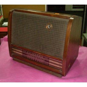 Antigua Radio Con Ojo Mágico Valvular Impecable 45cm (----)